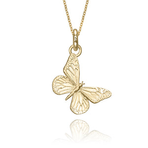 Kamama the Butterfly Charm, Yellow Gold