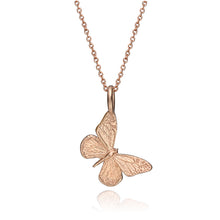 Miniature 14K Rose Gold Butterfly Charm