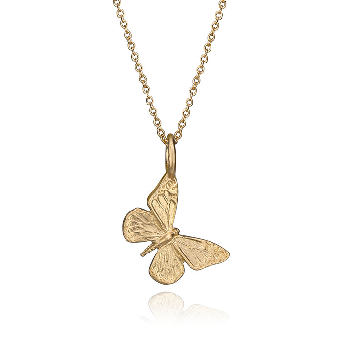 Miniature 14K Yellow Gold Butterfly