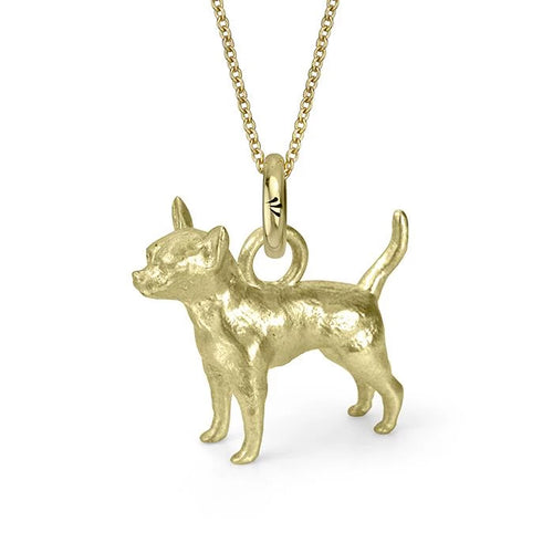 Oswaldo the Chihuahua Charm, Yellow Gold