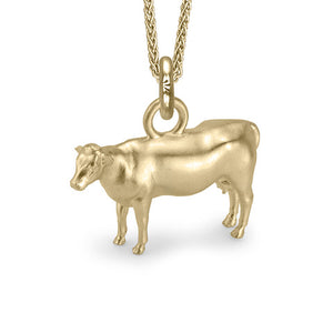 Daisy the Cow Charm, Yellow Gold
