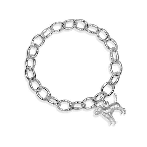 Oswaldo the Chihuahua Sterling Silver Hinged Charm Bracelet