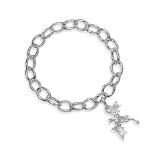 Vyeghal the Dragon Sterling Silver Hinged Charm Bracelet