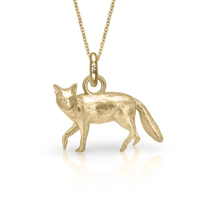 Lady Coddington the Fox Charm, Yellow Gold