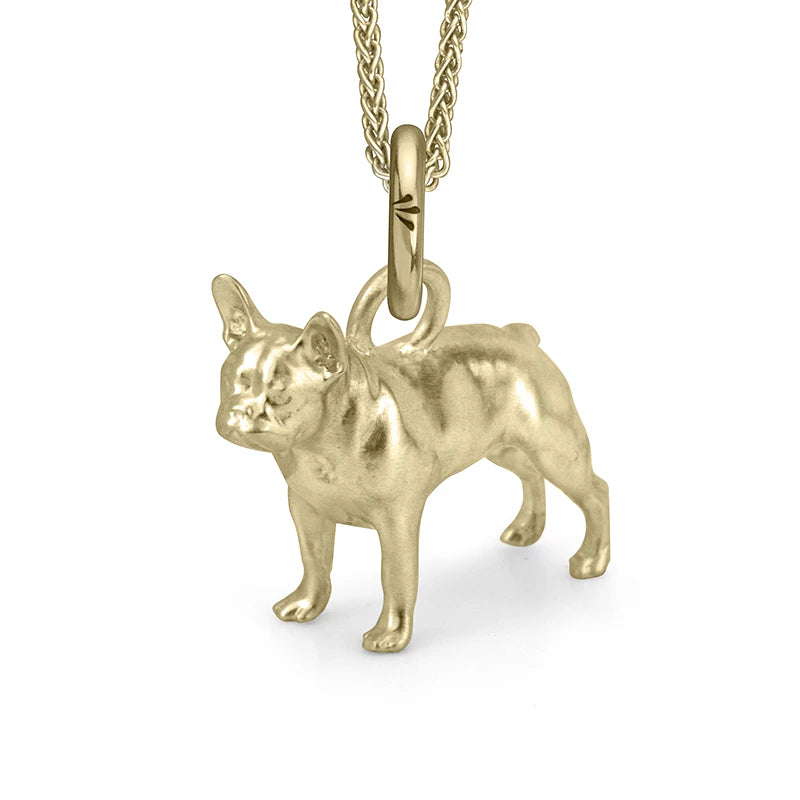 Rockie the Frenchie Charm, Yellow Gold