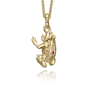 Copy of Farnum the Frog Charm, Yellow Gold
