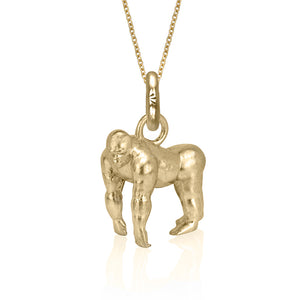 Atticus the Gorilla Charm, Yellow Gold
