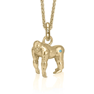 Copy of Atticus the Gorilla Charm, Yellow Gold