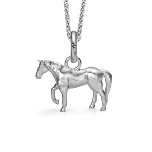 Chico the Horse Charm, Silver with Wheat Charm