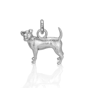 Charlie the Jack Russell Charm, Silver