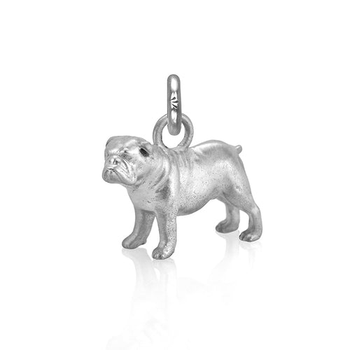 Eddie the Bulldog Charm, Silver