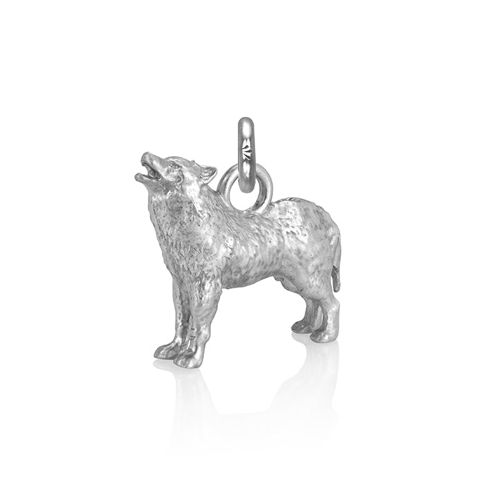 Biko the Wolf Charm, Silver