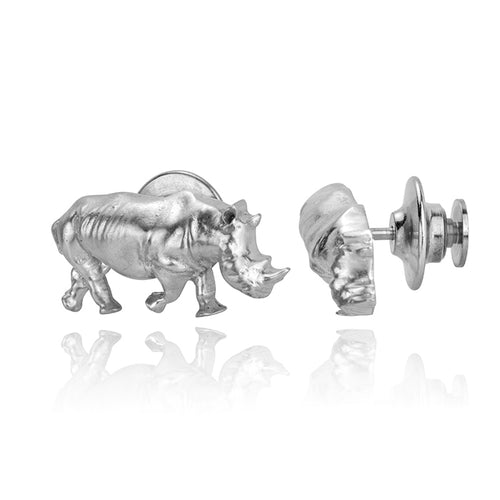 Sudan the Rhino Pin, Silver