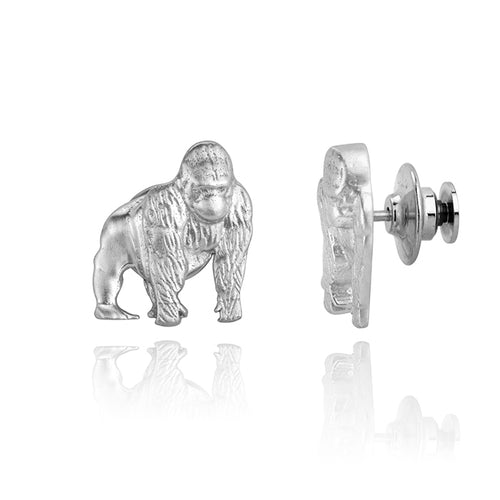 Poppy the Gorilla Pin, Silver