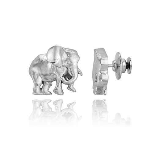 Jacob the Elephant Pin, Silver