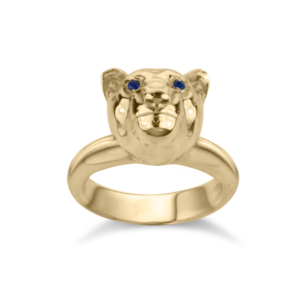 Lola the Lioness Ring in Solid Sterling Silver and Solid 14K Gold