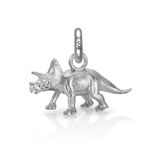 Denver the Triceratops Charm, Silver
