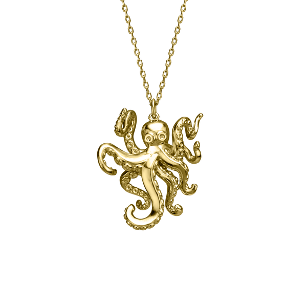Einstein the Octopus Charm in Silver & Gold