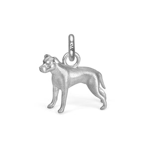 Nala the Pit Bull Charm, Silver