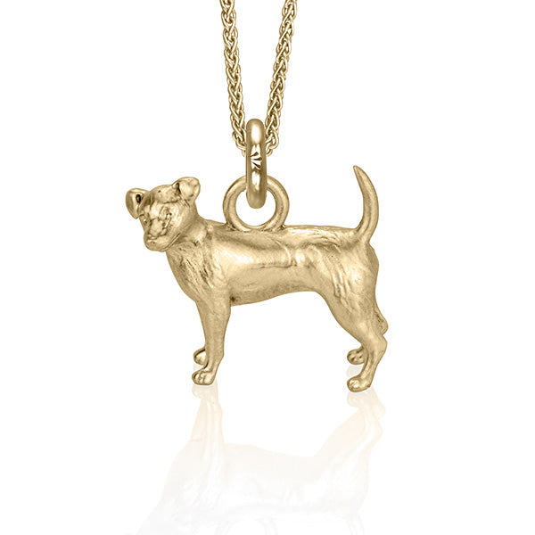 Charlie the Jack Russell Charm, Yellow Gold