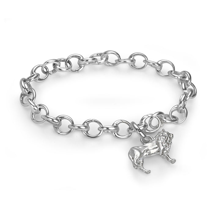 Sterling Silver Hinged Charm Bracelet, Small