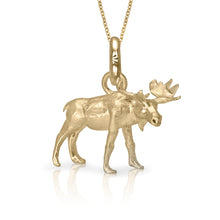 MaplePie the Moose Charm, Yellow Gold