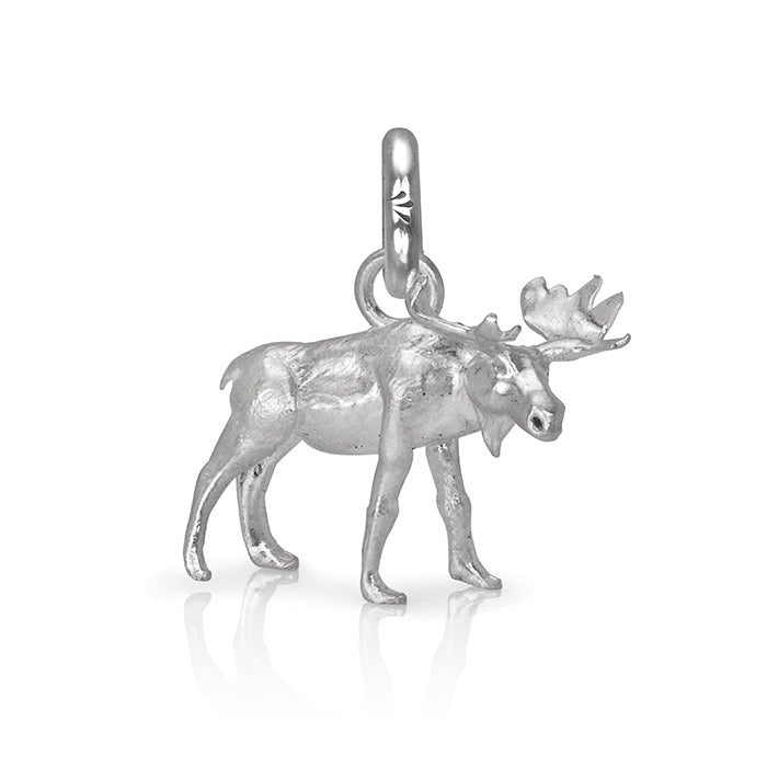 MaplePie the Moose Charm, Silver