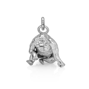 Higgins the Orangutan Charm, Silver