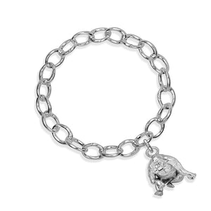 Higgins the Orangutan Sterling Silver Hinged Charm Bracelet