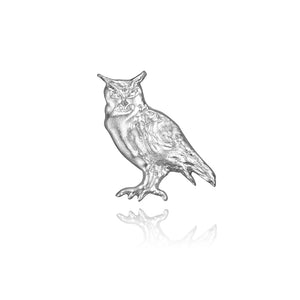 Merlin the Owl Charm, Silver