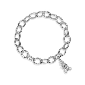 Mei-Yu the Panda Sterling Silver Hinged Charm Bracelet