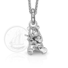 Mei-Yu the Panda Charm, Silver with Wheat Chain