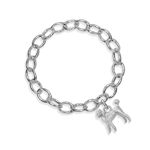 Emma Grace the Poodle Sterling Silver Hinged Charm Bracelet
