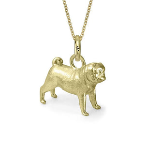 Cleo the Pug Charm, Yellow Gold