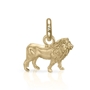 Cecil the Lion Charm, Yellow Gold