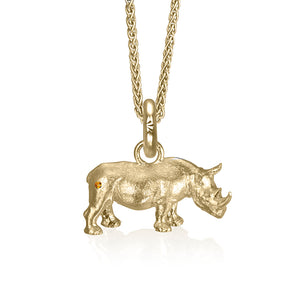 Copy of Rosco the Rhino Charm, Yellow Gold