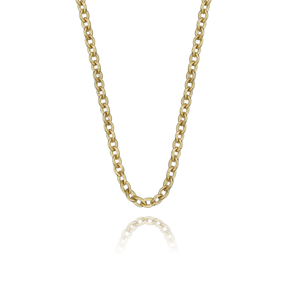 Solid 14K Gold Rolo Chain