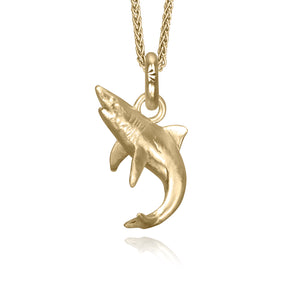 Bahamas the Shark Charm, Yellow Gold