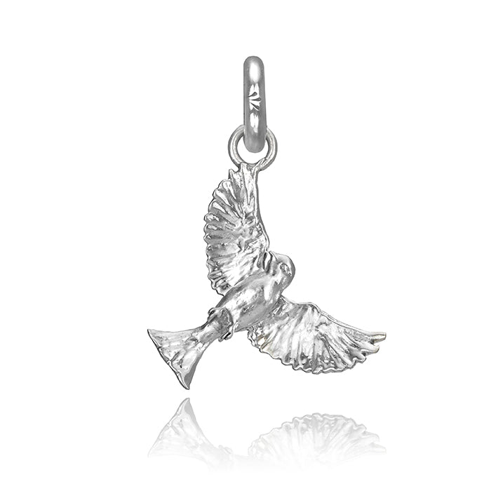 Swoup the Sparrow Charm, Silver