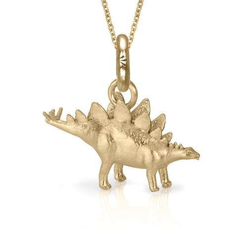 HotDog the Stegosaurus Charm, Yellow Gold