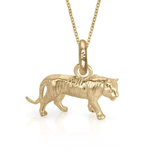 Dar the Tiger Charm, Yellow Gold