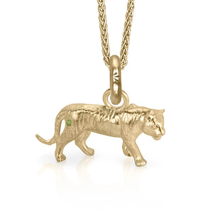 Copy of Dar the Tiger Charm, Yellow Gold