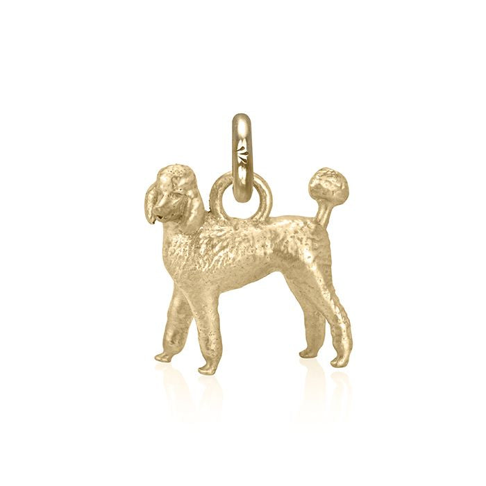Emma Grace the Poodle Charm, Yellow Gold