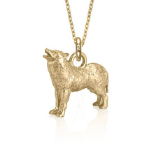 Biko the Wolf Charm, Yellow Gold