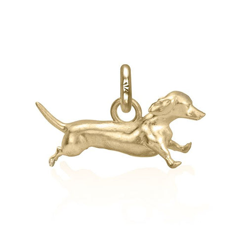 Archie the Dachshund Charm, Yellow Gold