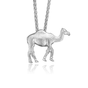 Pleo the Camel Charm, Silver with Wheat Chain