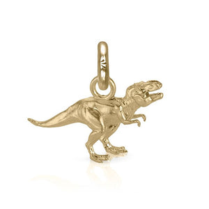 Rex the T. Rex Charm, Yellow Gold