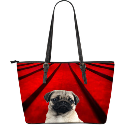Pug Lover Leather Tote - Fawn