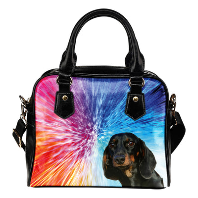Dachshund Color Burst Purse