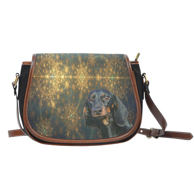 Venus Dachshund Saddle Bag Purse